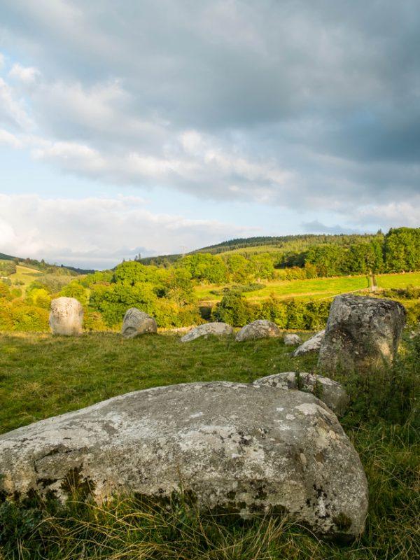 Stone circle background