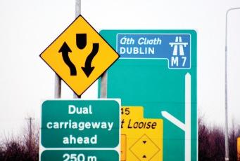 Irish road sign design